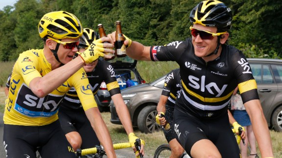 The British rider had all but confirmed his third Tour title a day previously and made the most of Sunday's final stage.