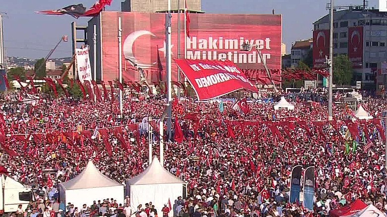 Opposition rally held against President Erdogan