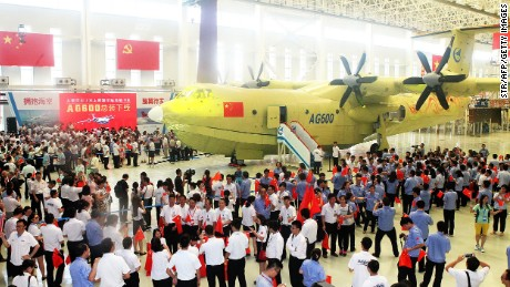 China says the AG600 amphibious plane is the world's largest.
