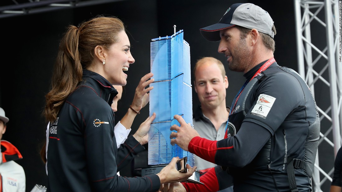 Ainslie has the royal backing of Catherine, Duchess of Cambridge -- who is the patron of his 1851 Trust, and has been a high-profile supporter in his bid to raise the reported £80 million ($105 million) he needs to fund his America's Cup campaign.
