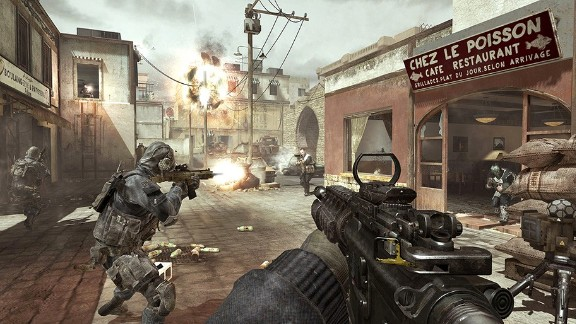 "The ""Call of Duty"" series has long faced controversy for its depictions of war.  Pictured: An image from the upcoming installment in the series ""Call of Duty: Modern Warfare 3"""