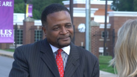Dr. George French Jr. is the president of historically black Miles College outside of Birmingham, Alabama.