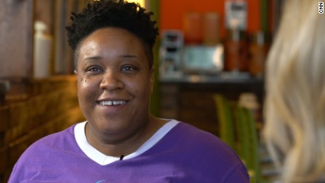 "Crystal Peterson is the co-owner of ""Yo Mamas"" restaurant in Birmingham, Alabama."
