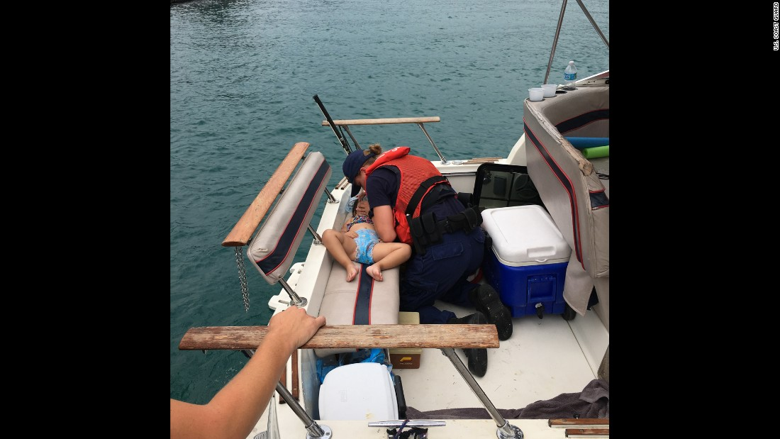 "Coast Guard Seaman Amanda Wolf performs CPR on a 2-year-old girl <a href=""http://www.mlive.com/weather/index.ssf/2016/07/coast_guard_saves_girl_2_who_f.html"" target=""_blank"">who fell off a boat and into Lake Michigan</a> on Thursday, July 21. Wolf successfully resuscitated the child."