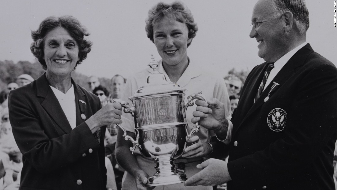 Baltusrol has hosted four women's majors. In 1961, Mickey Wright (center) won the third of her four U.S Open titles, by six shots on the Lower Course.