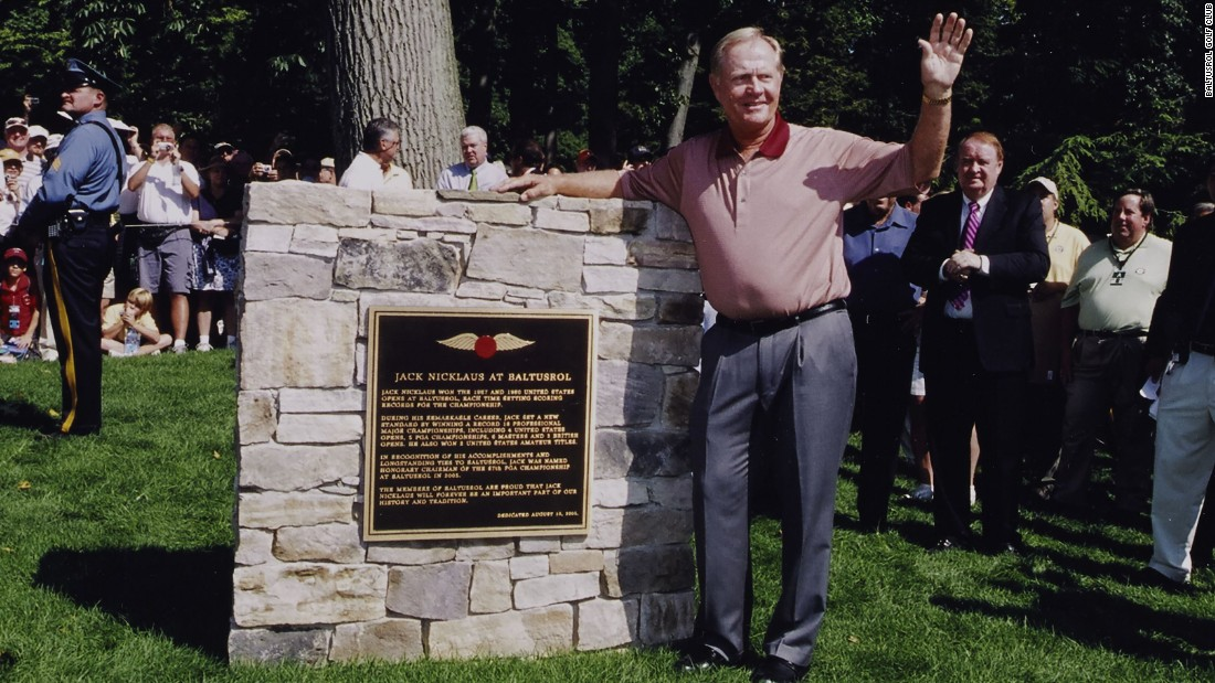 "Ahead of the 2005 PGA Championship, a special monument to Nicklaus was officially dedicated. The 18-time major winner said of the club: ""I shall always count Baltusrol among my favorite courses -- it is certainly one of the finest in the world."""