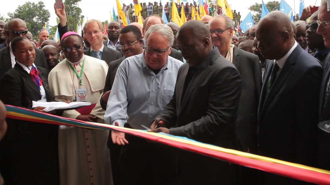 The plant was inaugurated in December by DR Congo President Joseph Kabila and key benefactor Howard G. Buffett, who has spent over $200 million on conservation projects in Africa.