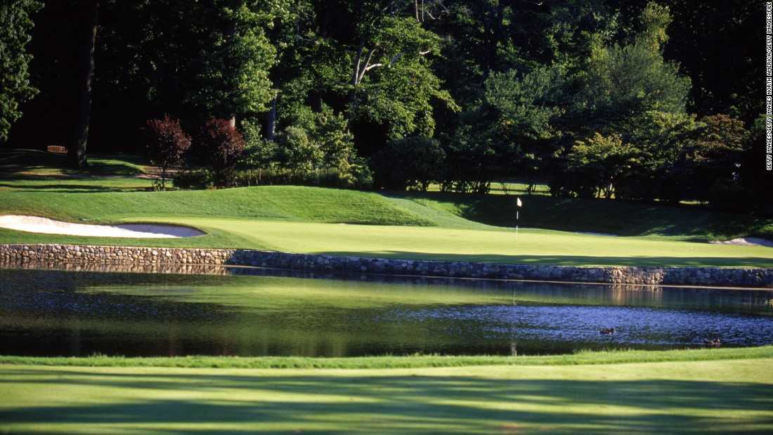 "Klein wrote that ""considerable"" tree management since Mickelson's 2005 PGA win has created more space and provided more sunlight. Pictured is a general view of the fourth hole in 2003."