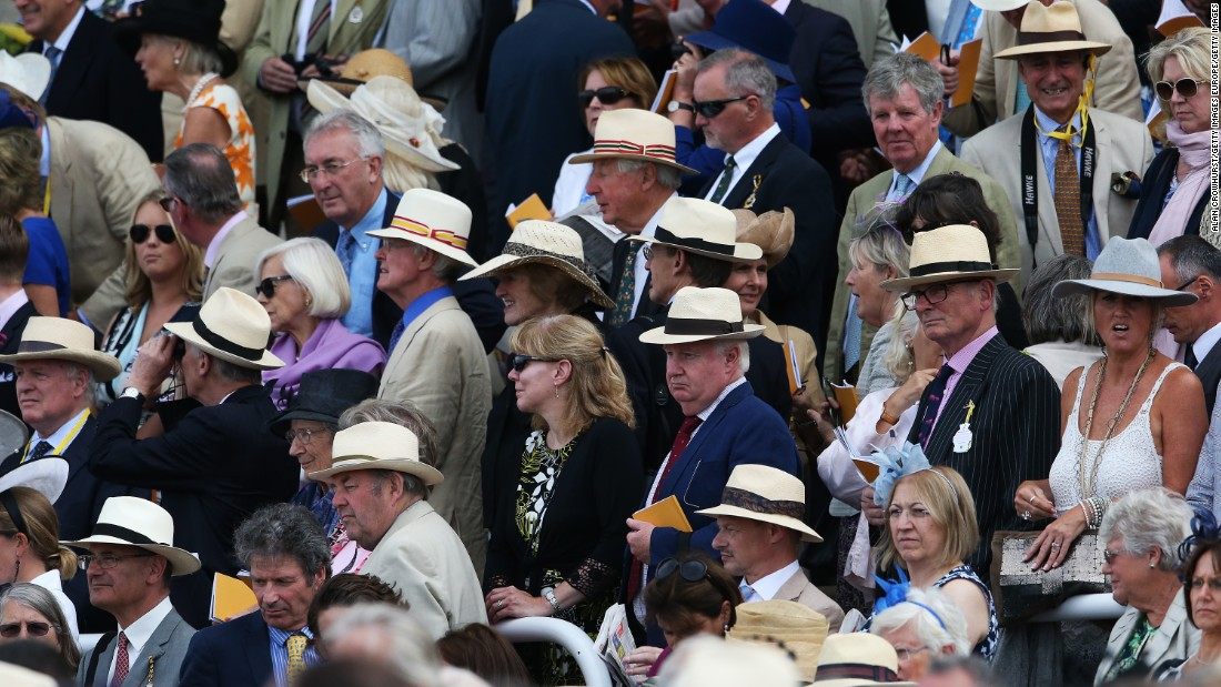 "Hundreds of Panama hats were on show at Goodwood. Back in 1906, Edward VII -- a Goodwood regular -- caused a major shock by eschewing traditional morning dress (top hat and tailcoat) to attend the race in a white linen suit and a Panama hat. Pretty soon, everyone had followed suit --<a href=""http://edition.cnn.com/2016/07/25/sport/glorious-goodwood-season-horse-racing/""> quite literally</a>."