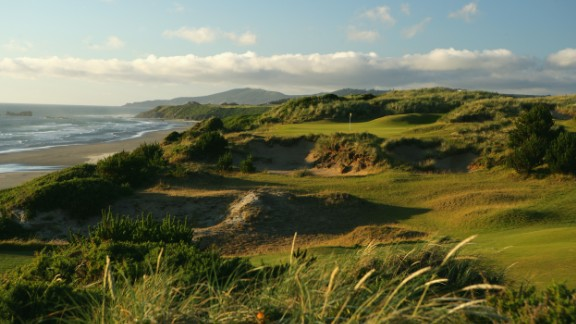 One of these is Pacific Dunes in Oregon. The U.S. course disturbs as little of the natural landscape as possible -- Doak uses it to his advantage to shape the holes.