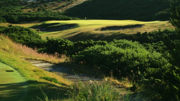 Along with Pacific Dunes -- whose 208-yard par-three 17th hole is pictured -- Doak's top-100 entries also include Ballyneal in Colorado and Barnbougle Dunes in Tasmania, Australia.