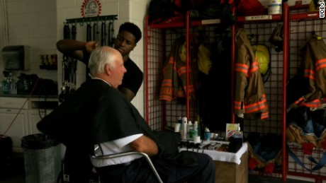 Roanoke City Fire Station was turned into a salon today.  The station set up this cut-a-thon for one of their firefighters who isn't only battling fires, but cancer.    Kali Hurd was recently diagnosed with stage four colon Cancer. She even showed up to the cut-a-thon with a smile on her face.    A former firefighter now barber came to save the day.    Antonio Morris was able to get his coworkers at Ekskluziv Salon in Roanoke. The hair stylists donated their time and skills to help.    Firefighters and anyone in need of a cut stopped by to get their hair done. Whether those who came knew Hurd or not, they're losing their locks for her.