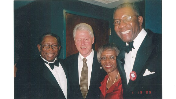 Hiram McBeth, far left, with Bill Clinton.