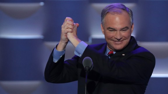 "During his speech, Kaine said: ""Hillary Clinton and I are compañeros del alma. We share this belief: Do all the good you can. And serve one another. Pretty simple. That"