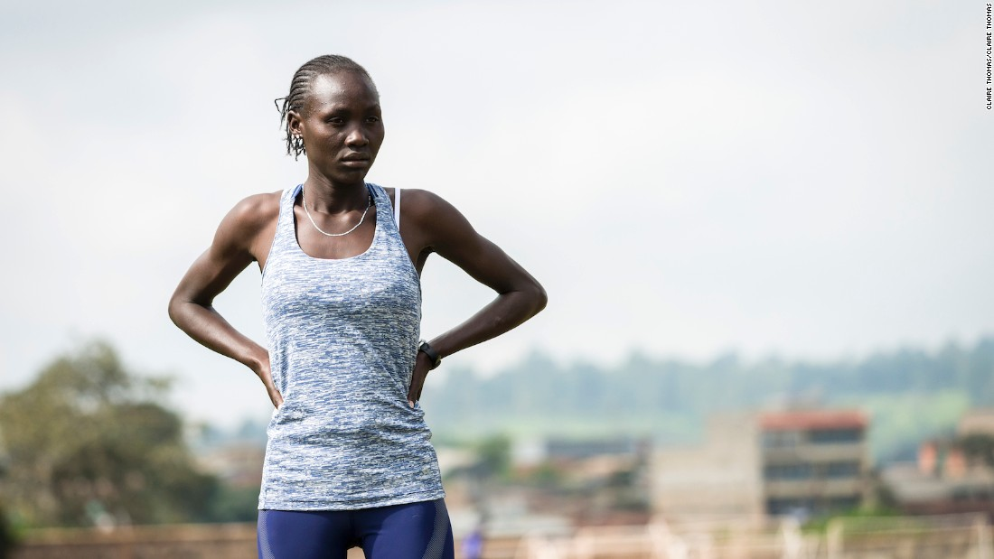 Anjelina Lohalith, 21, left her home country when she was just eight years old.  While her family remain in South Sudan, she will now compete in Rio in the 1500m for the Refugee Olympic Team.