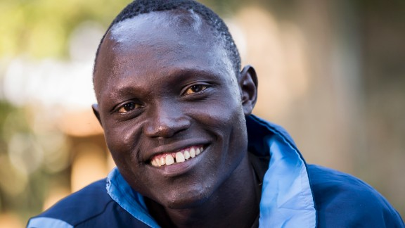 """Paul Amotun Lokoro fled war in his home country of South Sudan. Years later, the 24-year-old is aiming to not just compete, but thrive at the Olympic Games.""""I want to win a gold,"""" he says. """"If I win the race, I will be famous!"""""""