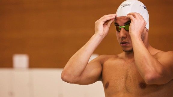 Six years ago, Rami Anis was swimming for Syria at the Asian Games in China. But in 2011, he fled his home of Aleppo to escape bombing.
