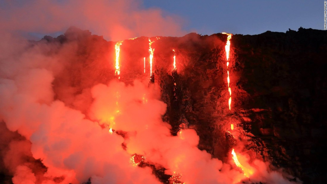 Photographer David Ford got a closeup look at the lava flowing from Kilauea Volcano during a sunrise boat tour.