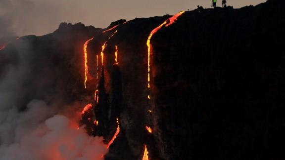 Lava has been flowing out of the volcano since May 25.