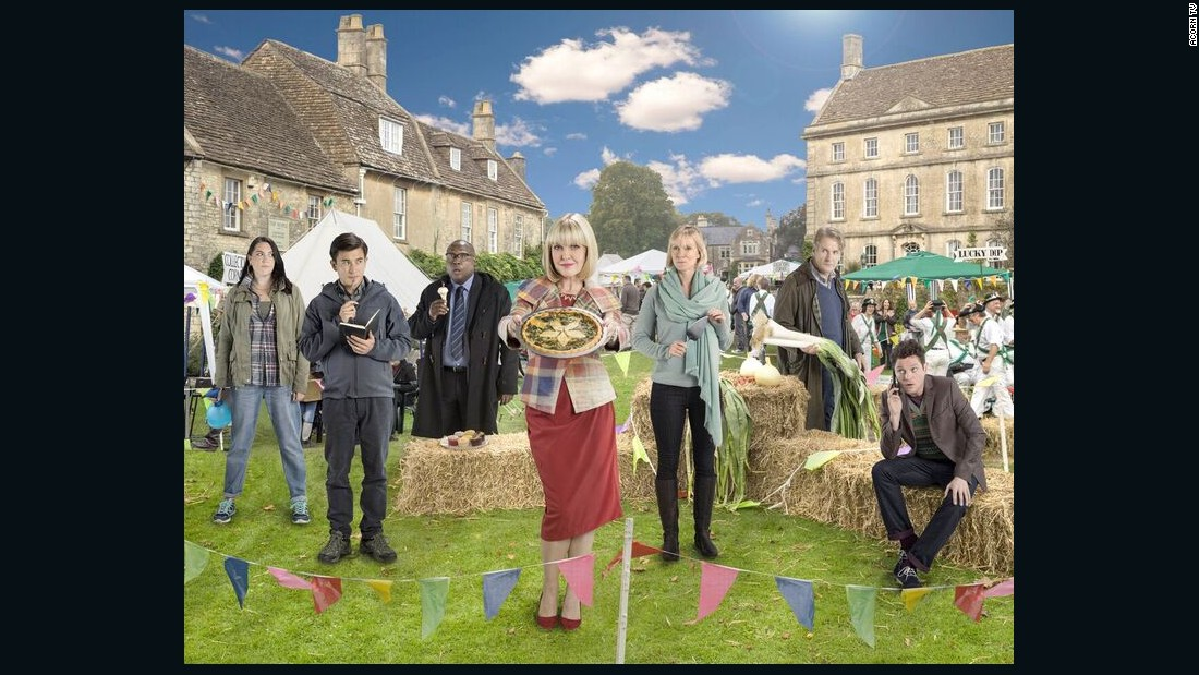 "<strong>""Agatha Raisin & the Quiche of Death""</strong>: In this feature-length pilot movie,  London PR executive Agatha Raisin (Ashley Jensen) fulfills a lifelong dream of retiring to a small village. She enters the local quiche-baking competition, only to find herself a suspect when her entry kills the judge. <strong>(Acorn TV) </strong>"