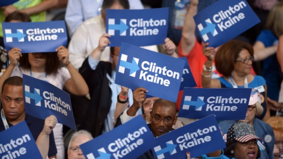 Delegates cheer during the final day of the 2016 Democratic National Convention on July 28, 2016, at the Wells Fargo Center in Philadelphia, Pennsylvania.