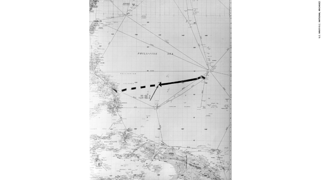 "The ship was steaming west from Tinian Island to the Philippines when a Japanese submarine spotted it. <a href=""https://www.history.navy.mil/research/library/online-reading-room/title-list-alphabetically/s/sinking-ussindianapolis.html"" target=""_blank"">A Navy Web page</a> gives accounts from both the Indianapolis and Japanese captains."