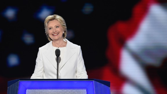 "Clinton is the first woman in U.S. history to lead the presidential ticket of a major political party. ""It"