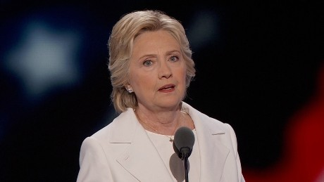 hillary clinton speaks at dnc