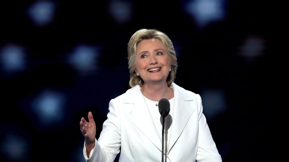 PHILADELPHIA, PA - JULY 28:  Democratic presidential candidate Hillary Clinton delivers remarks during the fourth day of the Democratic National Convention at the Wells Fargo Center, July 28, 2016 in Philadelphia, Pennsylvania. Democratic presidential candidate Hillary Clinton received the number of votes needed to secure the party's nomination. An estimated 50,000 people are expected in Philadelphia, including hundreds of protesters and members of the media. The four-day Democratic National Convention kicked off July 25.  (Photo by Alex Wong/Getty Images)