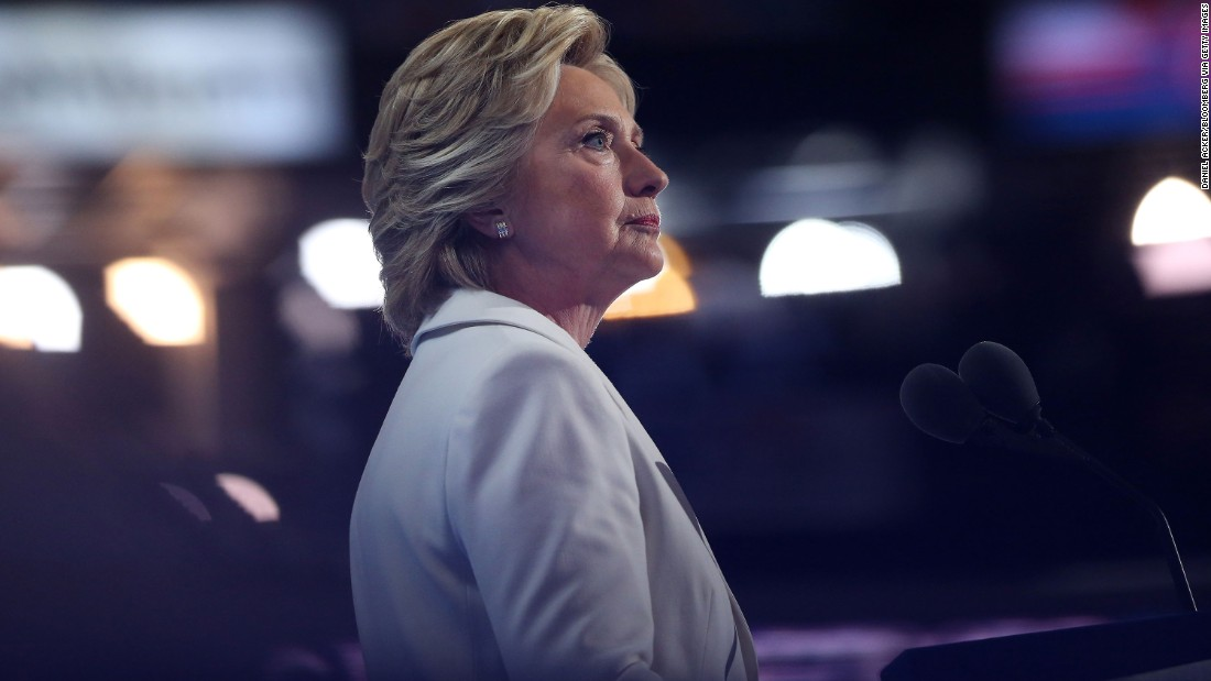 Hillary Clinton accepts the Democratic Party's nomination for president at the Democratic National Convention in Philadelphia on July 28. The former first lady, U.S. senator and secretary of state was the first woman to lead the presidential ticket of a major political party.