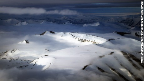 Norway boasts many mountains, including these spectacular ridges in Longyearbyen.