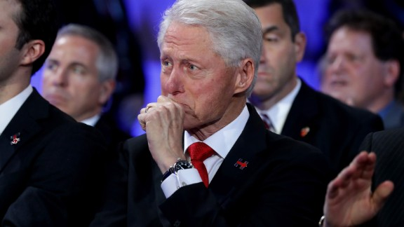 Former U.S. President Bill Clinton becomes emotional as he listens to his daughter, Chelsea, introduce her mother at the Democratic convention on Thursday, July 28. Photos: Chelsea Clinton through the years