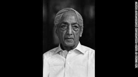 The philosopher Jiddu Krishnamurti poses for a portrait in 1971. Many say that Krishnamurti was Lee's favorite philosopher.