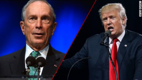 Donald Trump Michael Bloomberg split