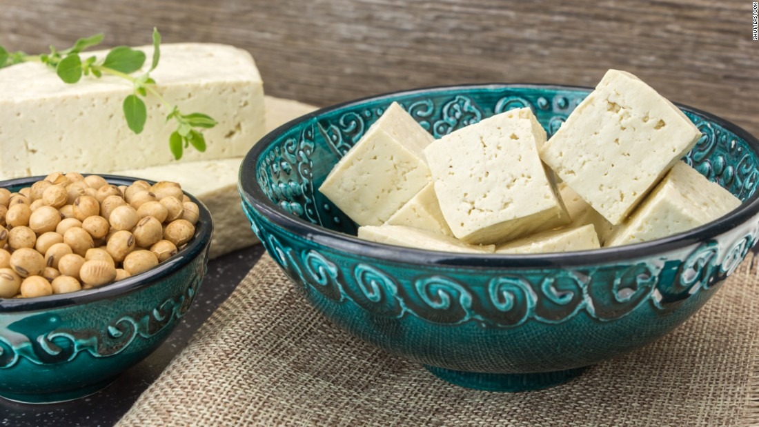 A new study suggests that eating plant protein can lower your risk of death, while eating meat is associated with an increased risk of death. Soy serves as a source of protein, such as in the form of tofu.