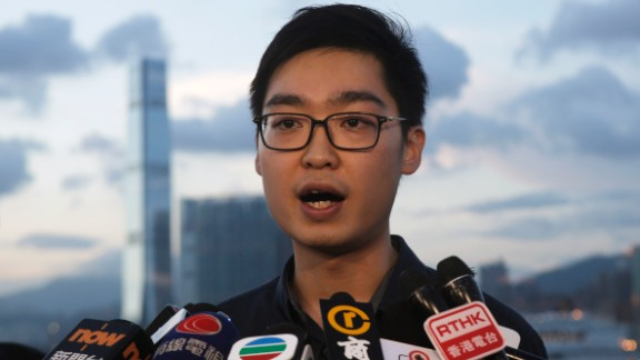 Chan Ho-tin of the Hong Kong Nationalist Party was seeking to run in the September elections.