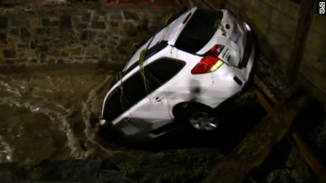 Flooding left two people dead  Ellicott City and sent cars floating.