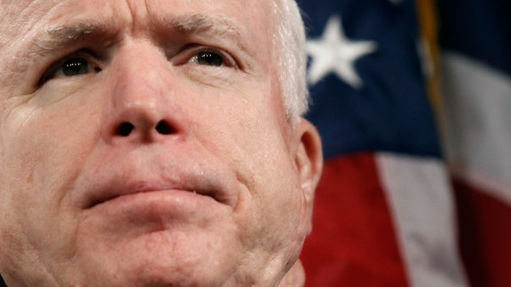 """Sen. John McCain (R-AZ) hold a news conference to announce the introduction of """"The Post-9/11 Troops to Teachers Enhancement Act"""" at the US Capitol October 27, 2009 in Washington, DC."""
