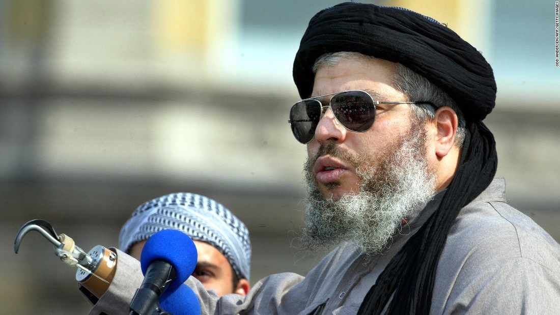 "The United Kingdom extradited radical Islamic cleric Abu Hamza al-Masri to the United States in 2012 <a href=""http://www.cnn.com/2012/09/25/world/europe/abu-hamza-al-masri-profile/index.html"" target=""_blank"">after a legal fight that lasted nearly a decade.</a> In 2015, a U.S. federal court convicted him of supporting al Qaeda and Taliban terrorists."