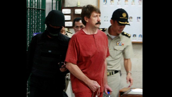 """Thailand extradited arms dealer Viktor Bout to the United States <a href=""""http://www.cnn.com/2010/WORLD/asiapcf/11/16/thailand.extradition/"""" target=""""_blank"""">in 2010,</a> drawing swift criticism from his native Russia, which called the extradition illegal. In 2012, Bout was sentenced to 25 years behind bars """"for agreeing to provide a staggering number of military-grade weapons to an avowed terrorist organization committed to killing Americans,"""" <a href=""""http://www.cnn.com/2012/04/06/justice/russia-us-viktor-bout-case/"""" target=""""_blank"""">prosecutors said at the time.</a> Bout, who some have dubbed the """"merchant of death,"""" denied any wrongdoing."""