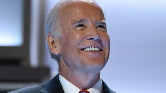 US Vice Presient Joe Biden acknowledges the audience on Day 3 of the Democratic National Convention at the Wells Fargo Center, July 27, 2016 in Philadelphia, Pennsylvania