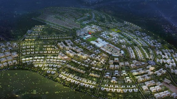 """Just outside of Rwanda's capital Kigali is Vision City, the country's largest housing project. It is part of the government's strategy to embrace """"smart cities."""" The town square will have free wifi and the street lamps will be solar-powered."""