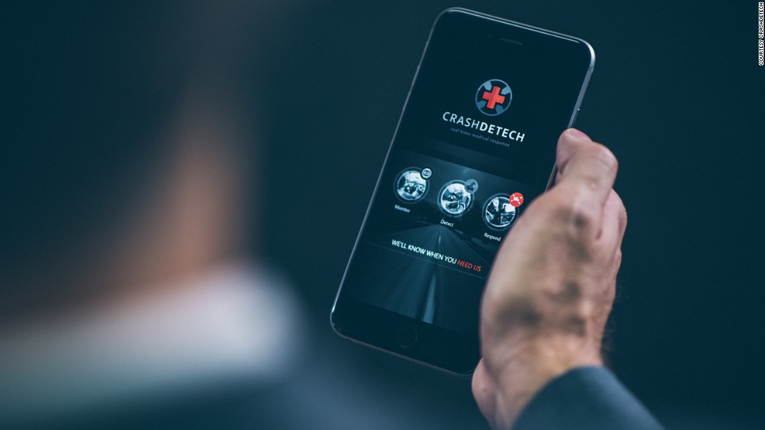 CrashDetech is a smartphone app that detects the impact of road accidents, pinpoints your location and calls an agent who will dispatch the nearest emergency vehicle. By reducing waiting times, it hopes to save lives.