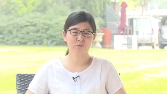 Lawyer Wang Yu seen in an apparent confession video released online.