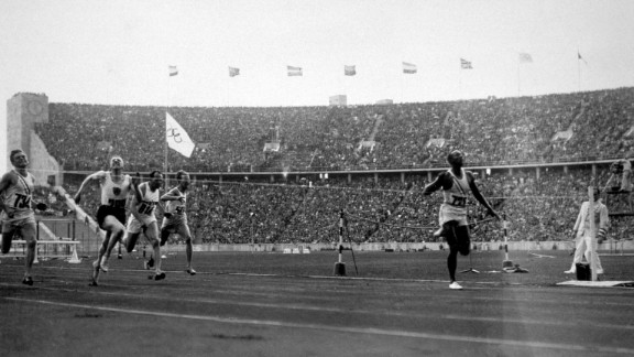 """<strong>Owens makes a statement:</strong> U.S. track star Jesse Owens won four gold medals at the 1936 Summer Games, which took place in Berlin during the rule of Adolf Hitler and Nazi Germany. Hitler wanted the Games to showcase what he believed to be the racial superiority of white Aryan athletes, <a href=""""http://www.cnn.com/2016/08/04/sport/gallery/tbt-jesse-owens/index.html"""" target=""""_blank"""">but Owens spoiled that idea</a> and became a cultural icon."""