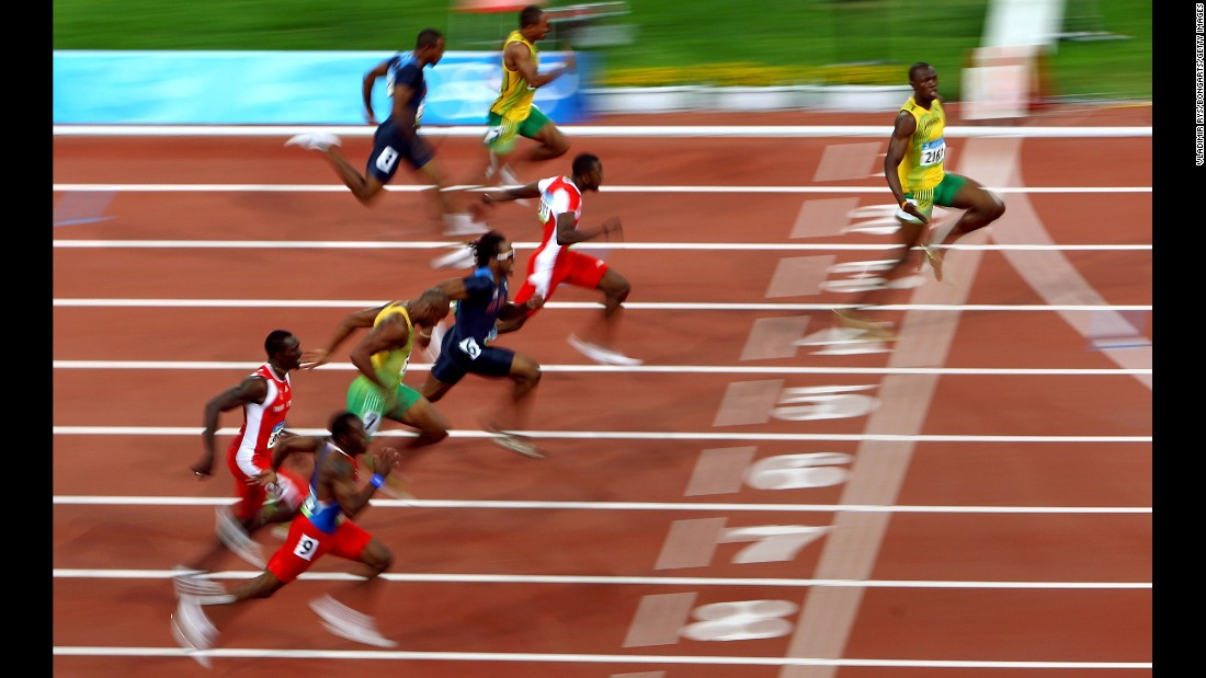 <strong>The world's fastest man -- ever:</strong> Jamaican sprinter Usain Bolt has owned the 100 meters since the 2008 Olympics, when he blew away the field with a world-record time of 9.69 seconds. Bolt lowered that record a year later to 9.58 -- a mark that still stands today.