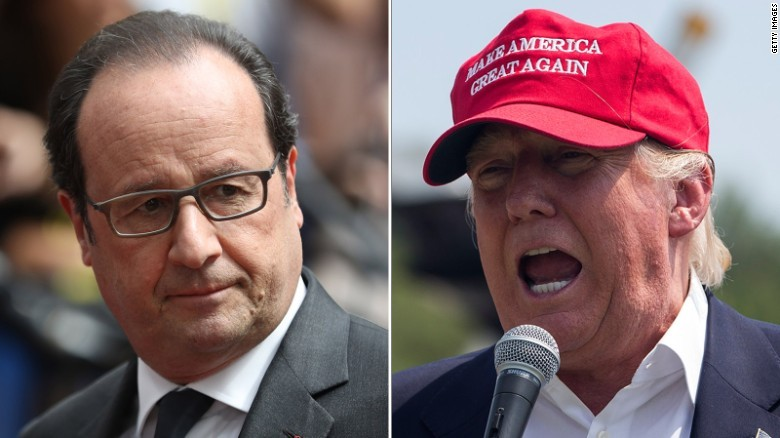 French president on Trump: I may retch
