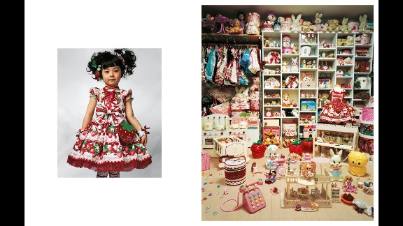 """A world of poverty and privilege is portrayed in """"Where Children Sleep,"""" a photo series by James Mollison, which depicts children's bedrooms around the world. Pictured is 4-year-old Kaya, who lives in a small apartment with her parents in Tokyo."""