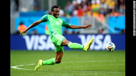 John Obi Mikel of Nigeria in action during the 2014 FIFA World Cup Brazil Round of 16. His team will rush to Brazil this week for the Olympics.