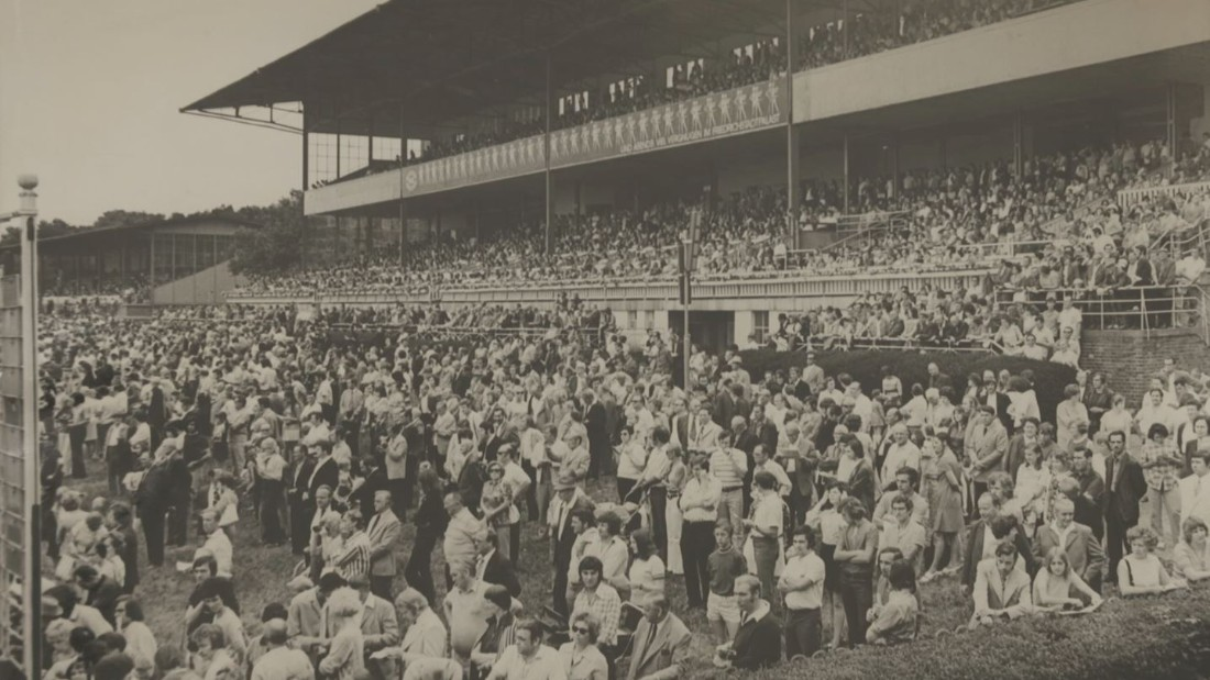 Hoppegarten's grandstand was built in the 1920's when Germany was known as the Weimar Republic.